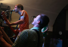 band performing rock Στοκ φωτογραφίες με δικαίωμα ελεύθερης χρήσης