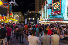 A band performs downtown in Las Vegas, June 21, 2013. Royalty Free Stock Image