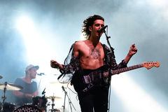 The 1975 (band) performs at FIB Festival Royalty Free Stock Images