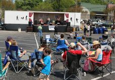 A Band Performs at the Overton Square Annual Crawfish Festival Royalty Free Stock Photo