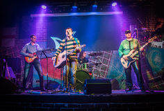 Band performs on stage Stock Photo