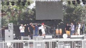 Band playing at Balkanik festival Royalty Free Stock Images