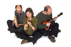 Band playing celtic music Royalty Free Stock Image