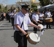 Band playing drums Royalty Free Stock Photo