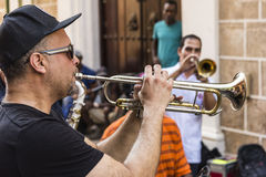 Band playing Havana Royalty Free Stock Photos