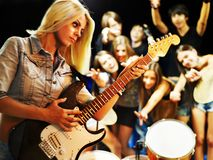 Band playing musical  instrument. Stock Images
