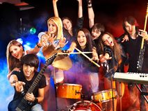 Band playing musical  instrument. Royalty Free Stock Photography