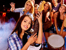 Band playing musical  instrument Stock Image
