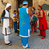 Band playing tropical music in Old Havana Royalty Free Stock Image