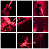 Band plays live - grid Stock Images