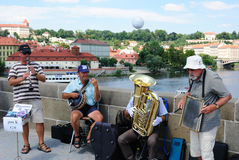 Band in Prag Lizenzfreie Stockfotos