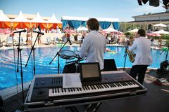 Band on resort Stock Photography