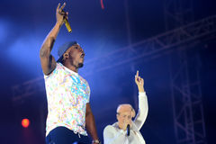 Band Rudimental performing on main stage at Exit Festival Royalty Free Stock Images