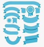 Band sänker designuppsättningblått vektor royaltyfri illustrationer