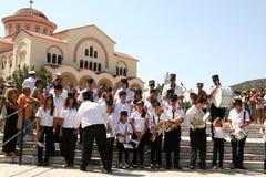 Band at Saint Gerasimos Day, Kefalonia, Greece. Stock Images