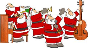 band santa stock illustrationer