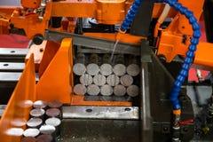Horizontal Band Sawing Machine Stock Image