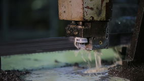 Band Saw - slow and very reliable way to cut metal stock footage