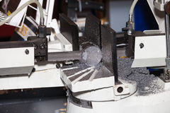 Band saws horizontal automatic cutting range machine Stock Photography