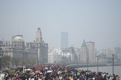 band shanghai royaltyfri foto