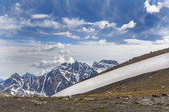 Band of Snow on a Mountain - Jasper National Park, Canada Stock Photography