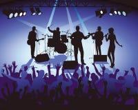 Band som leker i konsert   vektor illustrationer