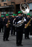 Band, St. Patrick de Parade van de Dag Stock Afbeeldingen