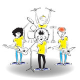 A band on stage Royalty Free Stock Images