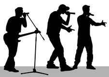 Band on stage vector illustration