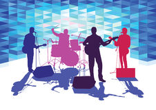 Band on stage Royalty Free Stock Images