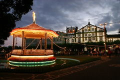 Band stand. In front of the church - St. Miguel Island, Azores Royalty Free Stock Photo