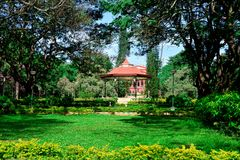 Band Stand at Cubbon Park, Bengaluru (Bangalore). A bandstand, in an octagonal shape made with cast-iron, was built in the early part of the 1900s Stock Photo