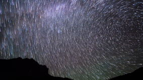 Band of stars. Time Lapse. 4K stock video footage