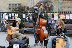 Band On The Street. Musicians play music in cambridge Royalty Free Stock Photography