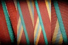 Band texturerar, makrotextilbakgrund för webbplats eller mobila enheter, tygprovkarta Royaltyfria Foton