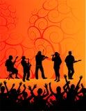 Band und Publikum Lizenzfreie Stockbilder