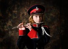 band uniform slitage för flicka Arkivbilder