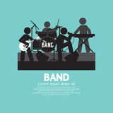 Band van Musicus Black Symbol vector illustratie
