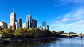 Band view of Melbourne CBD royalty free stock photos