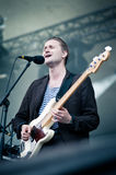 Band Wild Beasts plays at the festival Stock Photography