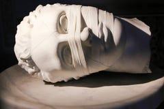Bandaż twarz - sztuki rzeźba, Rzym zdjęcie royalty free
