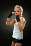 bandaża piękne czarny boksera dziewczyny ręki Obraz Royalty Free