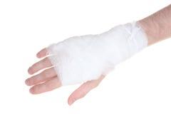 bandażująca ręka Obrazy Royalty Free