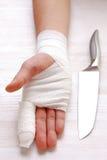 bandażująca ręka Obraz Stock