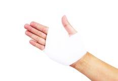 Bandażująca ręka odizolowywająca, z ścinek ścieżką Zdjęcie Royalty Free