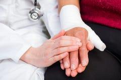 bandażujący kciuk Zdjęcie Royalty Free