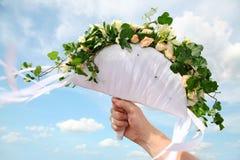 banda ślubne kwiaty zdjęcia stock