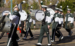 Banda 2012 de la universidad del desfile del cuenco de la fiesta Imágenes de archivo libres de regalías