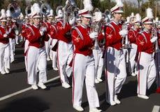 Banda 2012 de la universidad del desfile del cuenco de la fiesta fotos de archivo libres de regalías