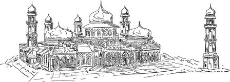 Banda aceh mosque stock illustration